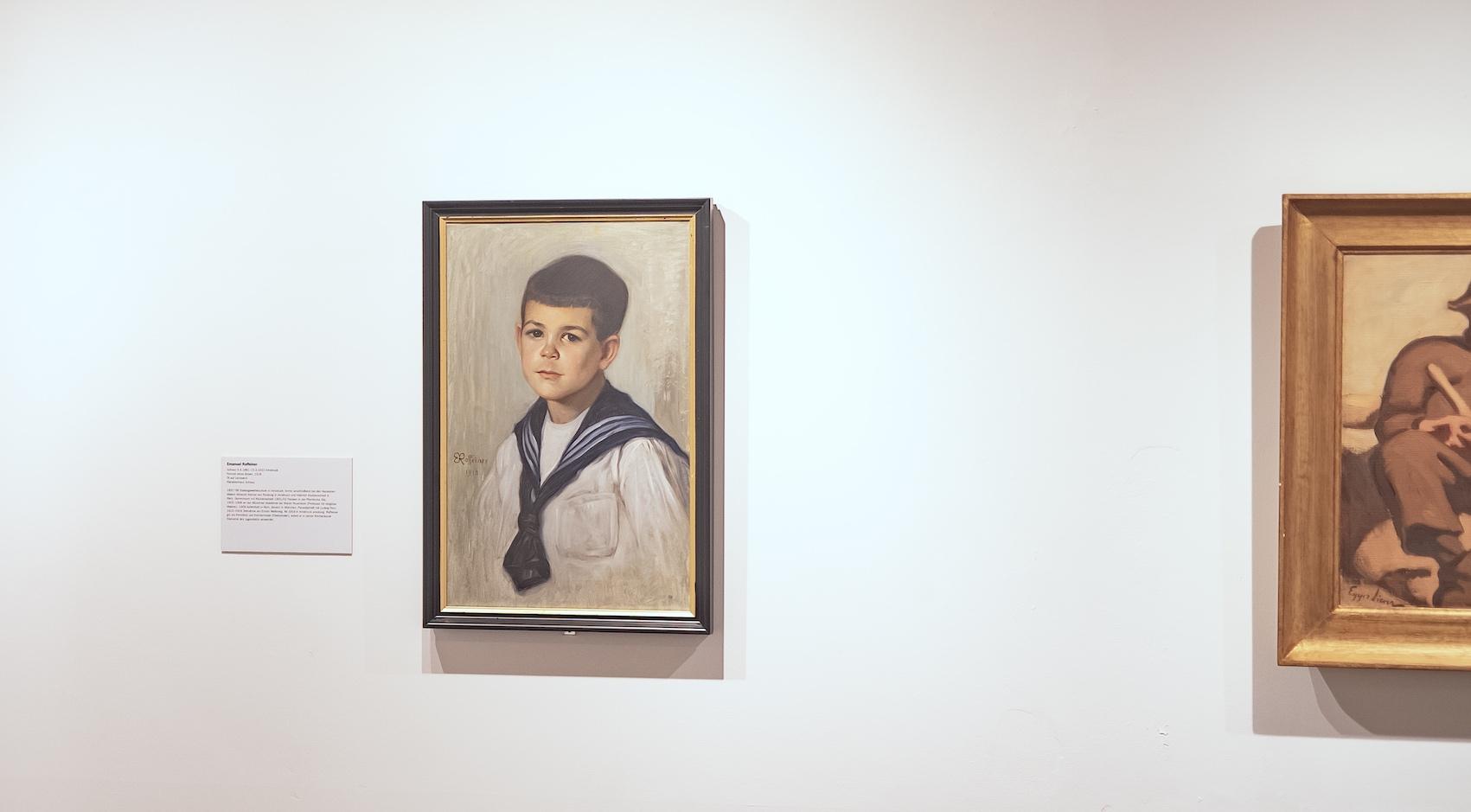 <p>Bilder von Emanuel Raffeiner (links) und Albin Egger-Lienz, aber auch von Ludwig Penz, Max Esterle und Heinrich Kühn<br /> geben Einblick in das Umfeld, in dem Nikodem und Weber-Tyrol arbeiteten</p>
