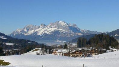 Blick auf Wilden Kaiser Winter