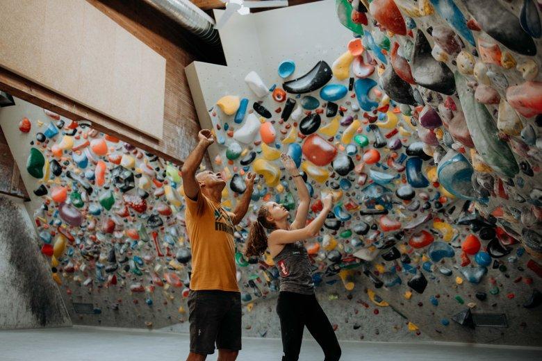 Beim Klettern werden instinktive Bewegungen aus der Kindheit wieder hervorgeholt.