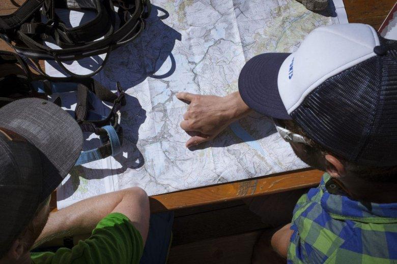 Unser Tagesziel auf der Landkarte: Der Olperer.