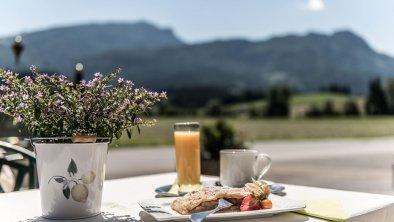 Terrasse mit Blick auf den Unterberg, © (c) Florian Egger