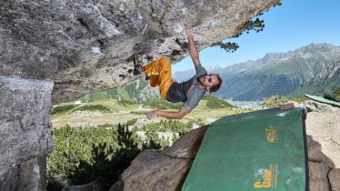 Bouldergebiet Silvapark Galtür im Paznaun, © TVB Paznaun-Ischgl/Stefan Kürzi