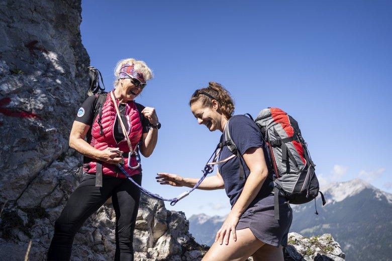 Nach langer Verletzungspause ist es das Ziel,endlich wieder einen Berggipfel zu erklimmen.
