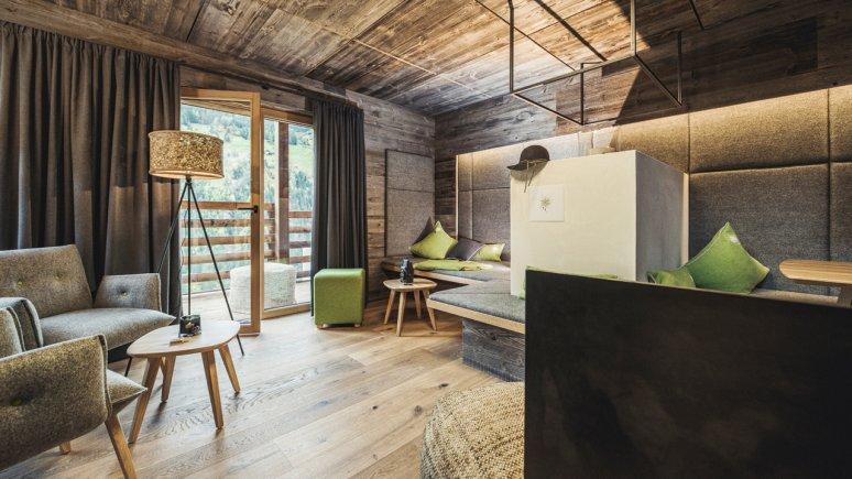 Wohnraum in den Chalets Bergwiesenglück, © Chalets Bergwiesenglück