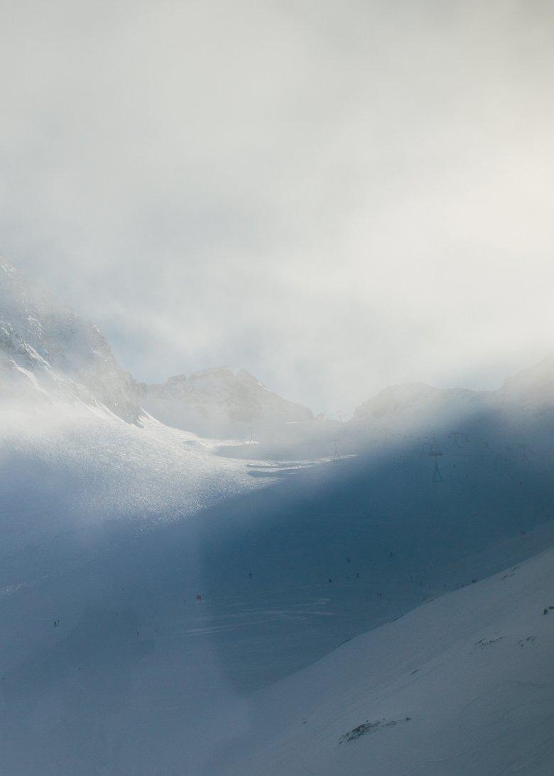Blick auf den Stubaier Gletscher.