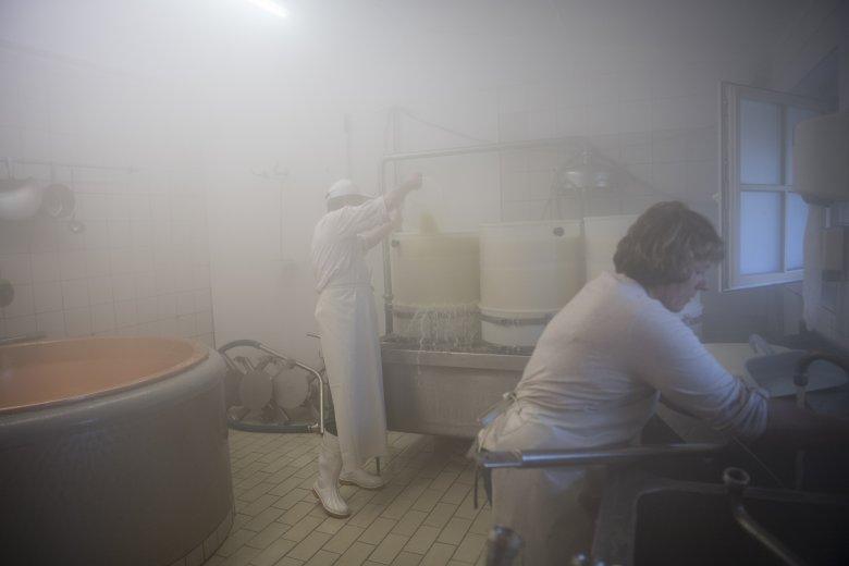 Die moderne Almkäserei erfüllt strengste Hygiene-Kriterien.