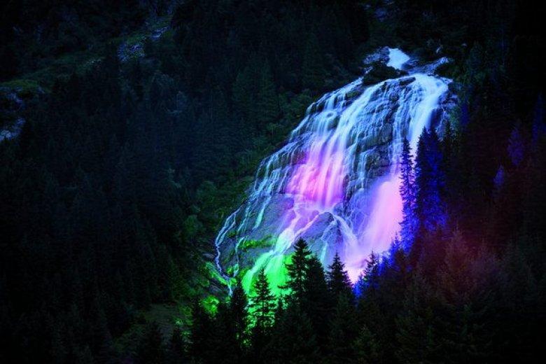 Grawa-Wasserfall (Genusswandernacht) |© TVB Stubai Tirol/Andre Schönherr