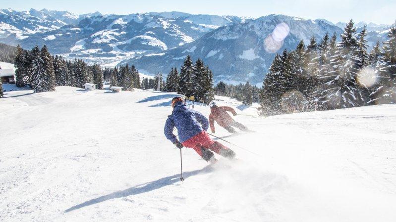 Skifahren in der SkiWelt Wilder Kaiser Brixental, © Tim Marcour Highres
