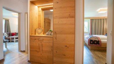Vorraum und Garderobe, © Ferienwohnung Karwendel