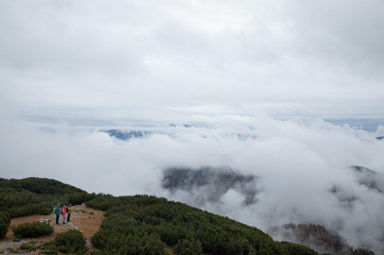 Ein Blick über die Wolken.