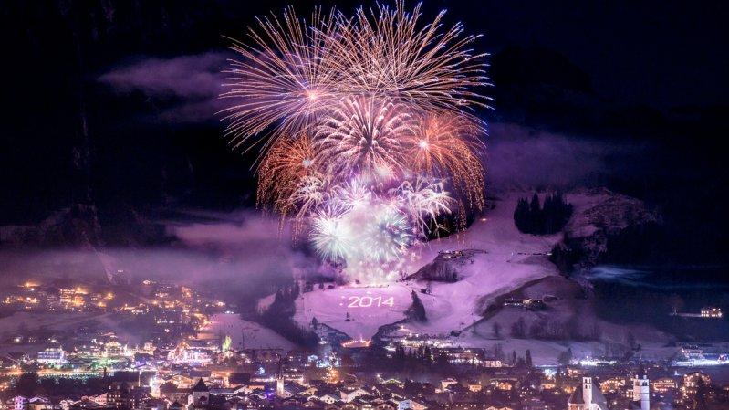 Neujahrs-Feuerwerk in Kitzbühel, © Michael Werlberger