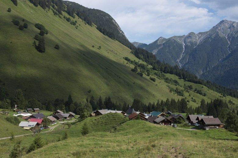 40 ansehnliche Hütten: Fallerschein war vor langer Zeit Dauersiedlungsgebiet.