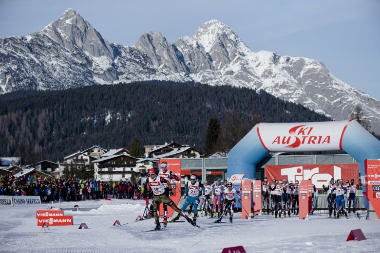 Die Nordische Ski-WM findet 2019 von 19.2. bis 3.3. in Seefeld statt. Foto: Olympiaregion Seefeld/Stephan Elsler