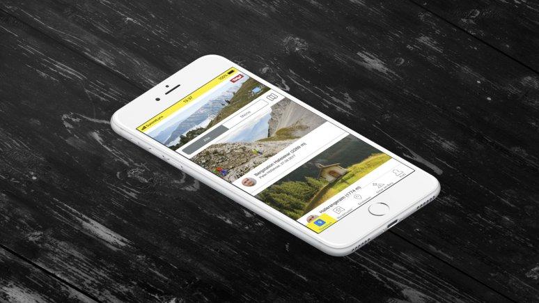 SummitLynxApp zum Sammeln der Adlerweg-Nadel, © SummitLynxApp