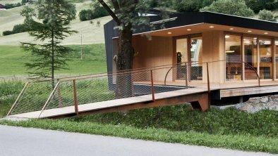 Modulhaus außen Brücke