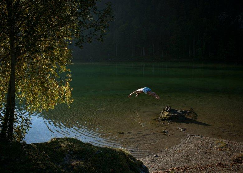 Wild Swimming am Hintersteiner See. , © Tirol Werbung, Jens Schwarz