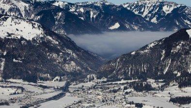 Kössen im Winter -Luftaufnahme