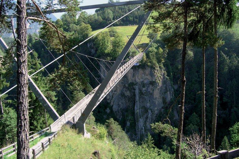 Benni-Raich-Hängebrücke im Pitztal. , © TVB Pitztal