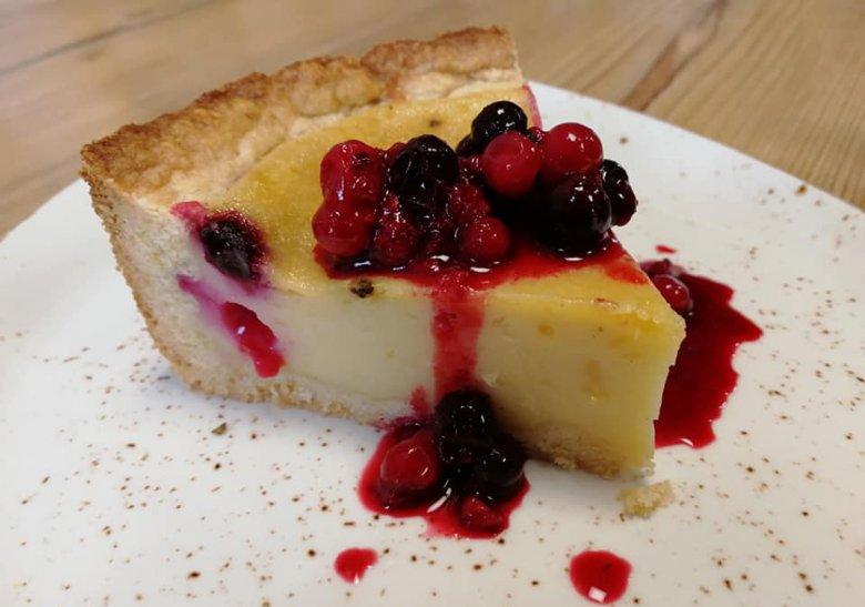 Vegane Cheese Cake im Hotel Tyrol.