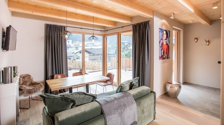 Wohnzimmer in den alpegg Chalets, © alpegg Chalets