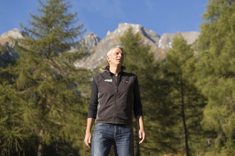 Nationalpark Ranger Andreas Rofner begleitet mich.