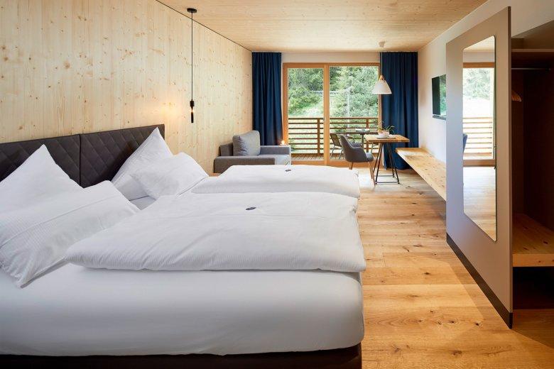 Modernes Design im Hotel LechZeit. Foto: Michael Huber