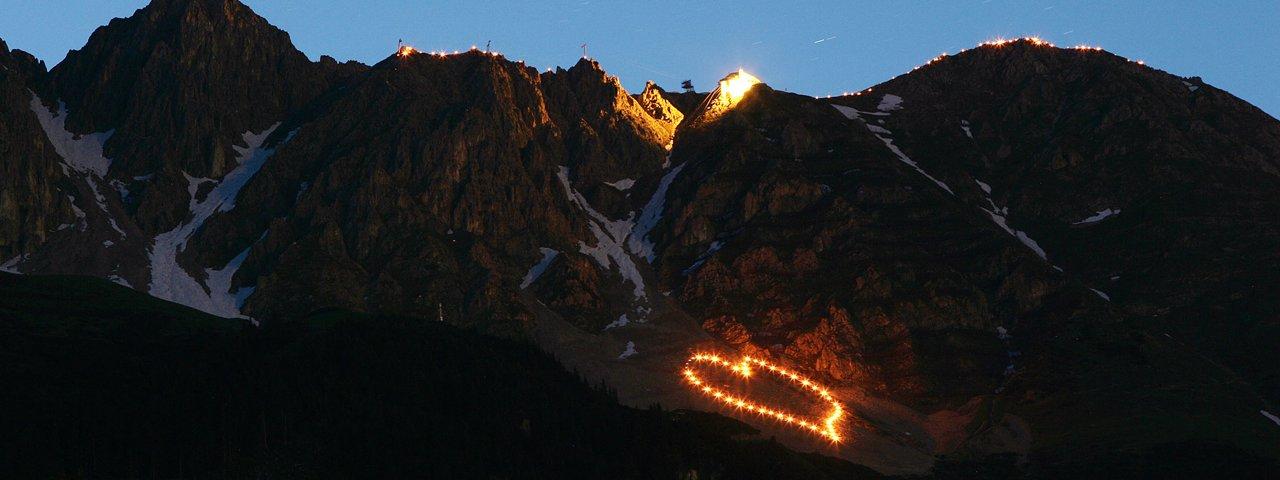 Bergfeuer auf der Innsbrucker Nordkette, © Tirol Werbung/Christian Wührer