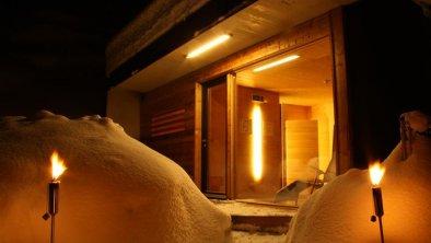 winterbilder Sauna