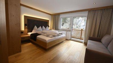 Apart Bergblick - Schlafzimmer m. Inrarotkabine