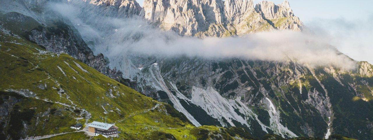 Die Gruttenhütte am Wilden Kaiser. , © TVB Wilder Kaiser / Stefan Leitner