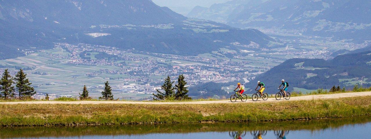 Mountainbiken auf der Muttereralm in der Region Innsbruck, © TVB Innsbruck/Erwin Haiden