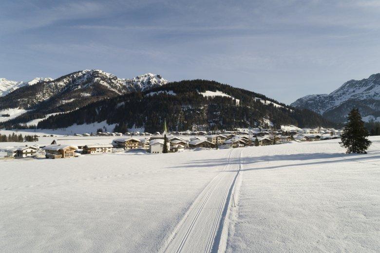 Hochfilzen, eine der Gemeinden in Tirol, die Weiße Weihnachten quasi garantieren. (Foto: Tirol Werbung/Mario Webhofer)           , © Tirol Werbung/Mario Webhofer