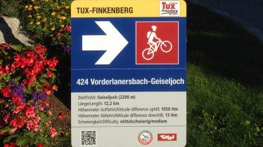 Mountainbiketour Beschilderung, © Tirol Werbung