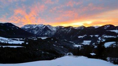 Blick nach Westen / Richtung Rofangebirg im Winter