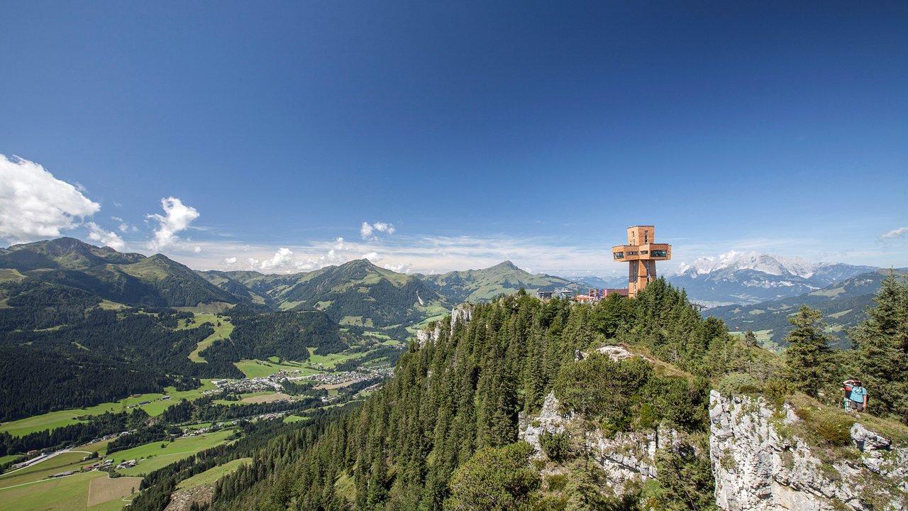 Jakobskreuz auf der Buchensteinwand, © Bergbahn Pillersee/Andreas Langreiter