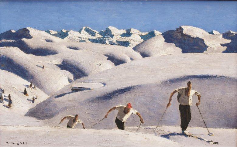 Der Architekt, Fotograf und Maler Alfons Walde lebte in Kitzbühel. Als einer der ersten Künstler widmete er sich ab den 1920erJahren dem neuen Phänomen Skisport. Daneben schuf er bäuerliche Szenen, Landschaftsbilder und erotische Abbildungen.