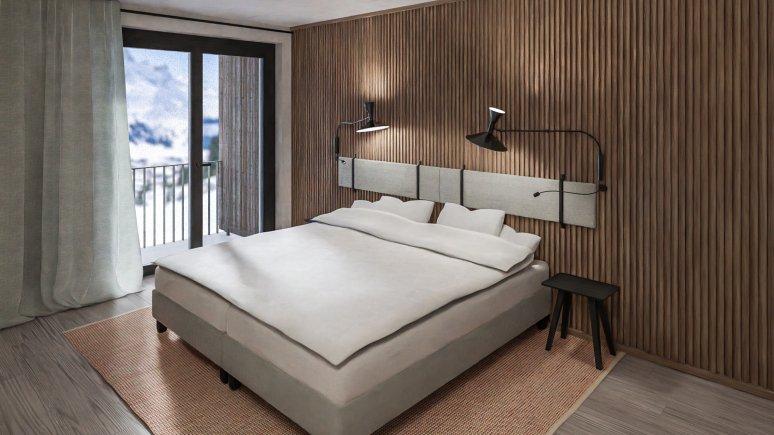 Schlafzimmer, Ullrhaus, © Ullrhaus St. Anton am Arlberg