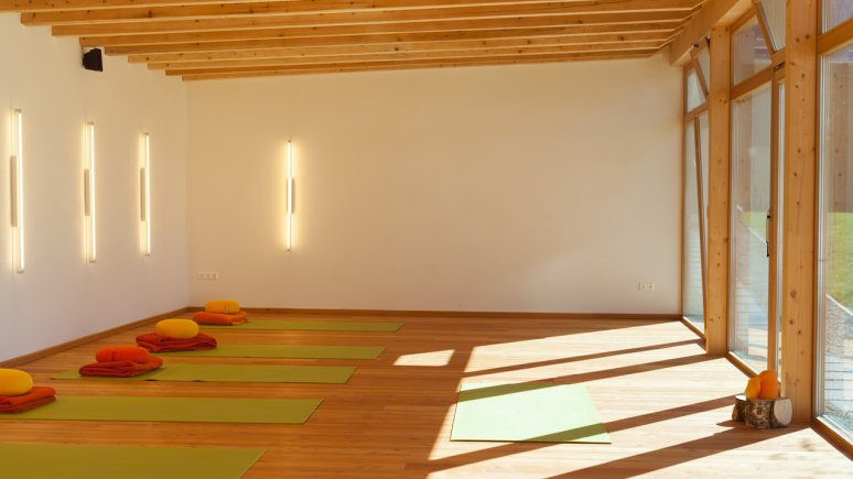 Yoga Raum im Hotel aufatmen , © Hotel aufatmen