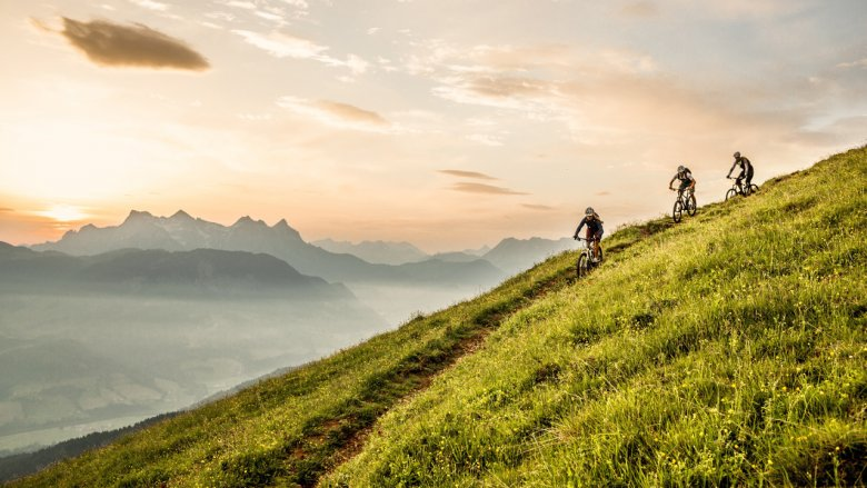 Mit Mountain-, Gravel- oder E-Biker die Berge erkunden geht am besten in den Kitzbühler Alpen. Foto: Kitzbüheler Alpen/GHOST-Bikes GmbH