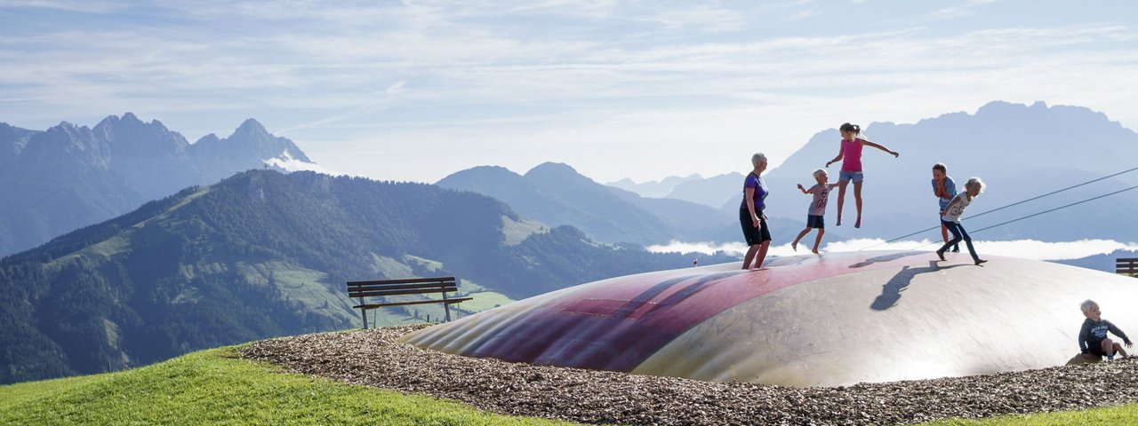 Timoks Alm, Trampolin, © Tirol Werbung, Hansi Herbig