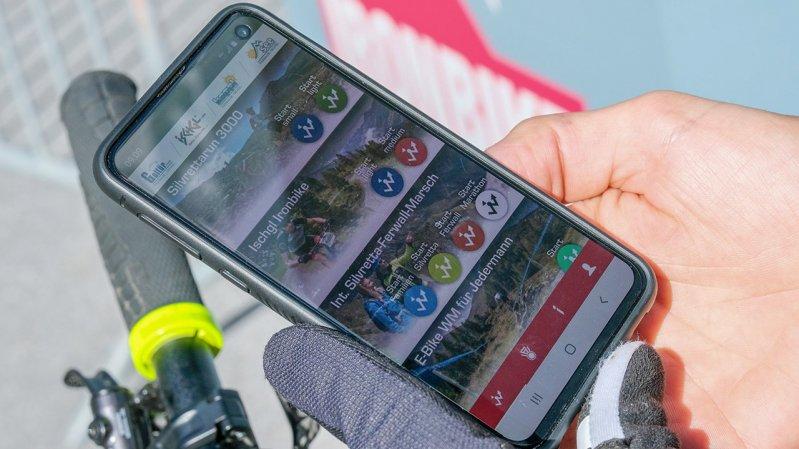 """Die App """"Paznaun Challenge"""" zeichnet die Teilnahme auf, © TVB Paznaun - Ischgl"""