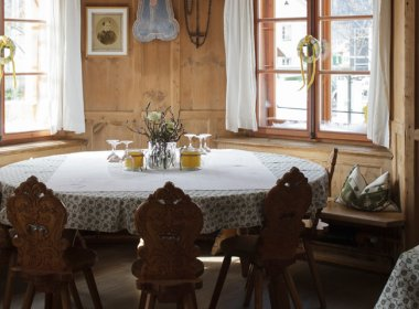 Gaststube im Gasthaus Gemse in Zams