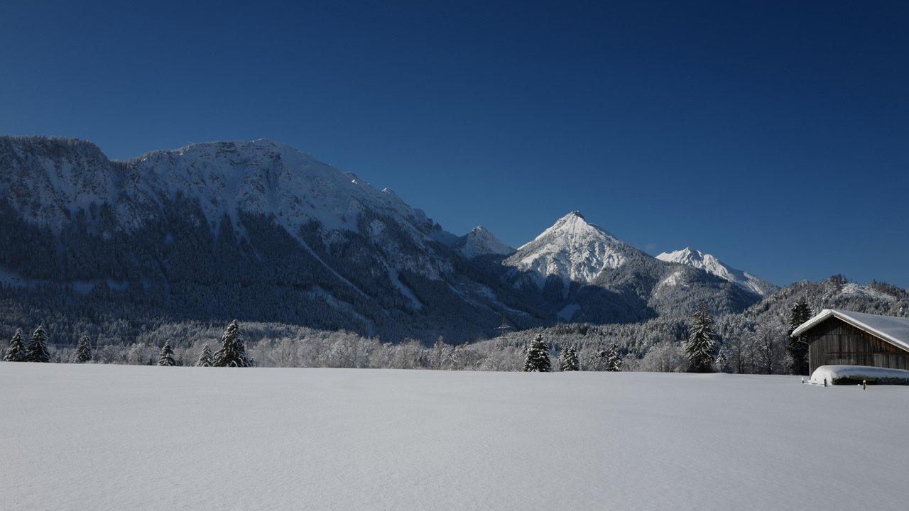 Pinswang im Winter, © Naturparkregion Reutte