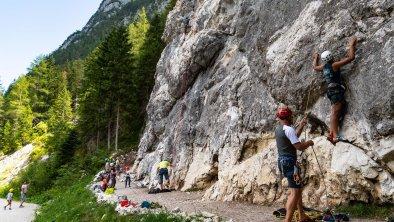 Klettern am Flämenwandl in Puitbach in Leutasch, © Olympiaregion Seefeld