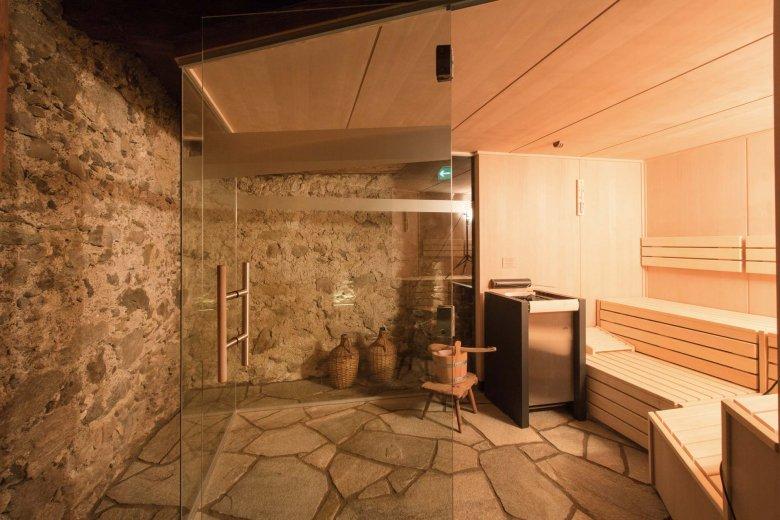 Moderne Technik im alten Gemäuer: die Sauna im Keller ist insbesondere im Winter ein Genuss. (Alle Fotos: Hof Alpenjuwel)