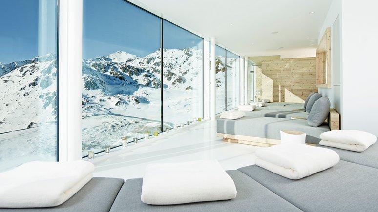 Wellnessbereich in der Kristallhütte, © Kristallhütte