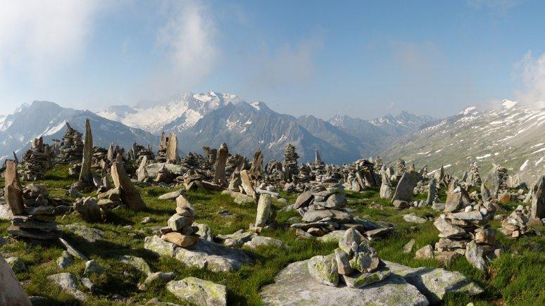 Steinmandln am Petersköpfl im Hochgebirgs-Naturpark Zillertaler Alpen, © Naturpark Zillertaler Alpen