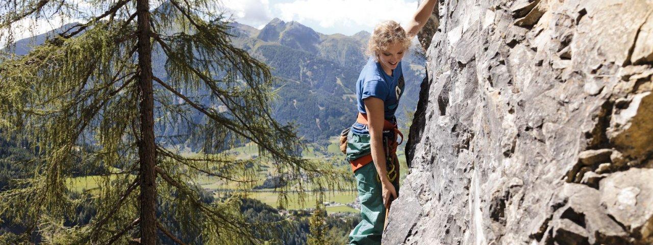 Klettergarten Falkenstein in Matrei in Osttirol, © Tirol Werbung/Robert Pupeter