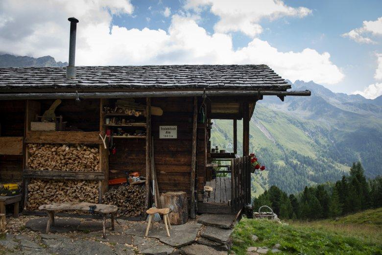 Die Trelebitsch Alm liegt auf 1.963 Metern über dem Meeresspiegel.