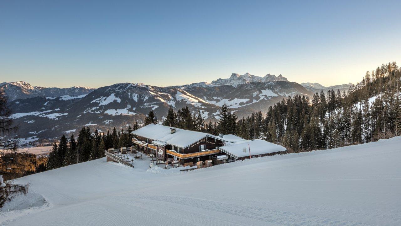 Die Angerer Alm mitten im Skigebiet St. Johann in Tirol, © Thomas Plattner